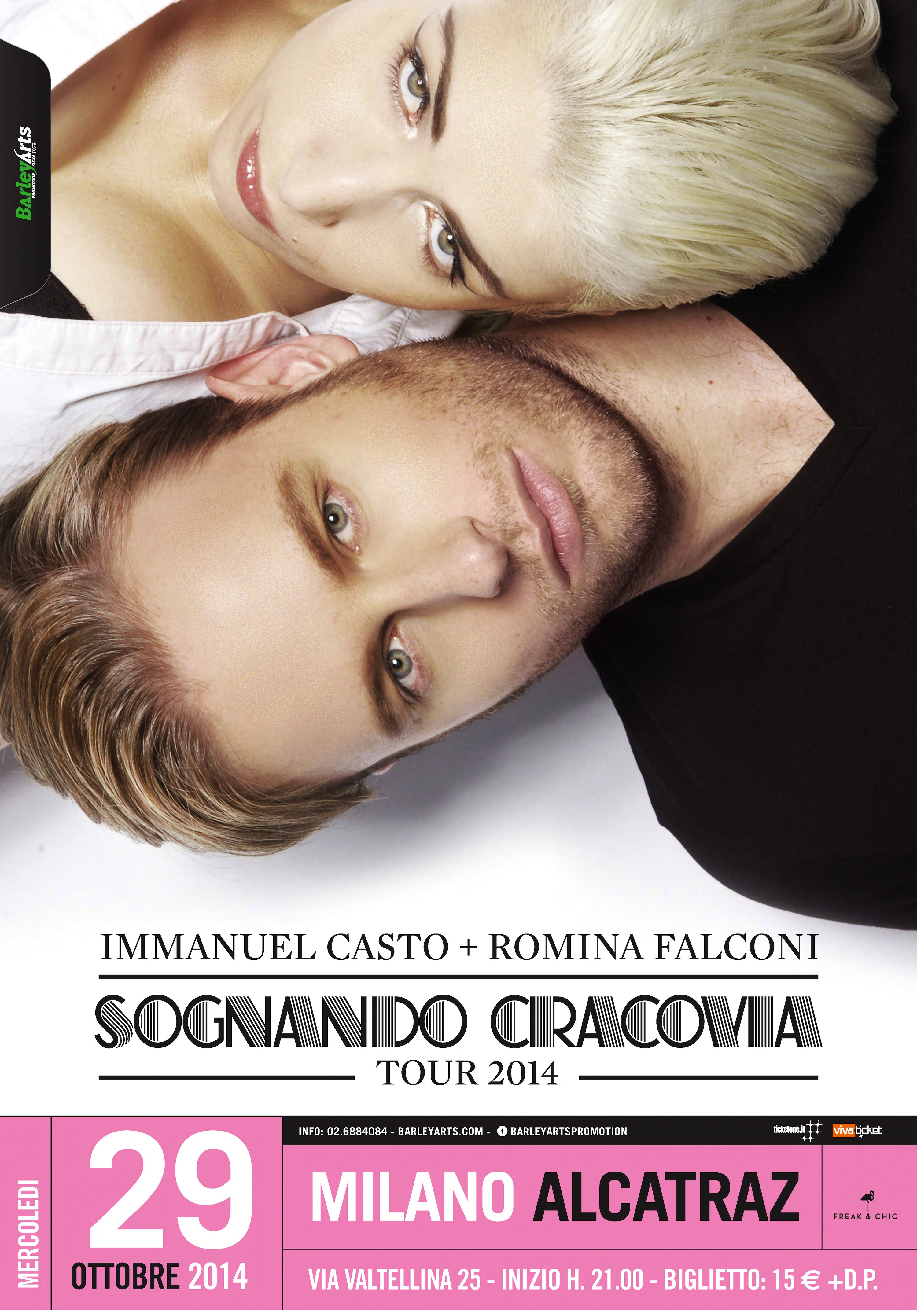 IMMANUEL CASTO + ROMINA FALCONI: le date del 'Sognando Cracovia Tour'