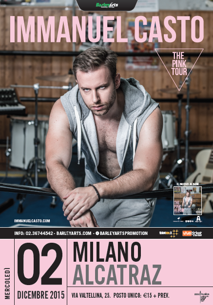 IMMANUEL CASTO torna live con THE PINK TOUR