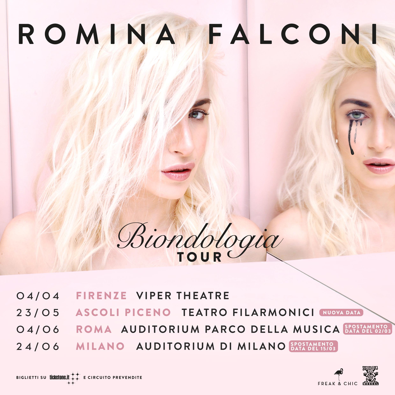 ROMINA FALCONI: spostati a giugno i concerti di ROMA e MILANO