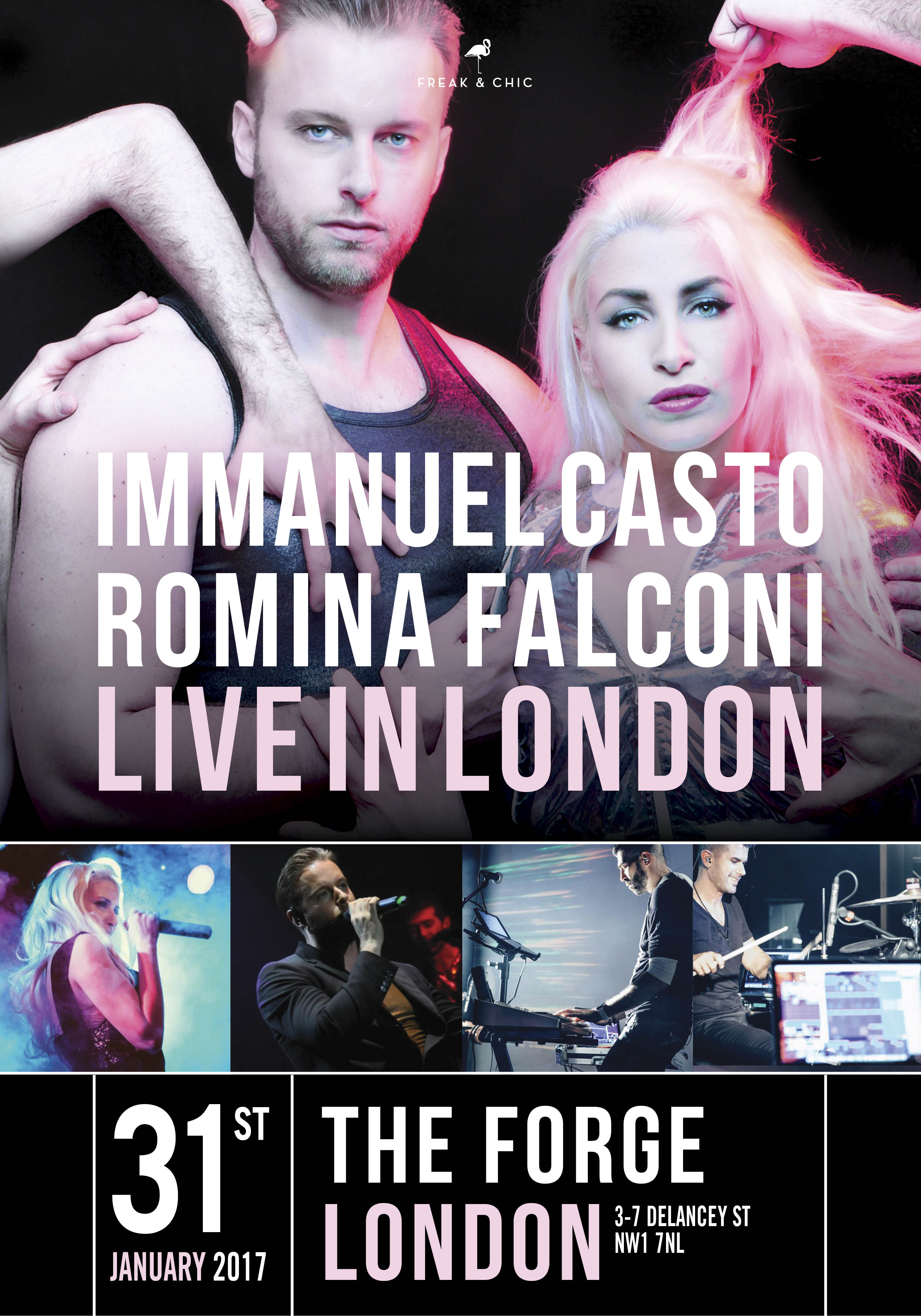 IMMANUEL CASTO e ROMINA FALCONI sbarcano a LONDRA!